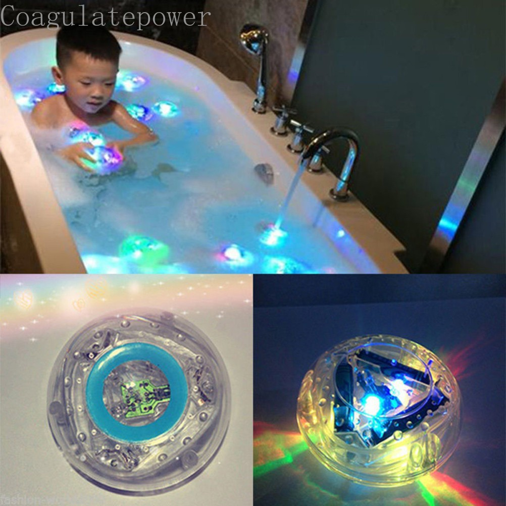 Coagulatepower 1 Pcs Bath Tub Light LED Funny Colorful Waterproof Bathroom Bath Lamp Toy
