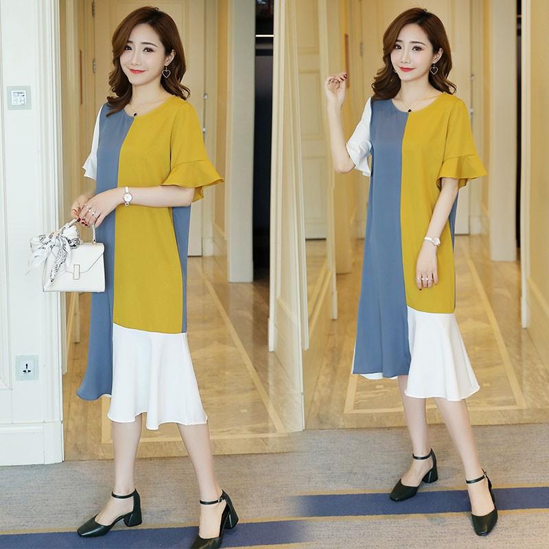 Đầm bầu , váy bầu maxi tay lỡ hiện đại thích hợp cho mặc nhà dạo phố
