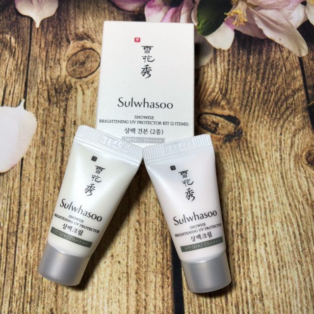 1 cặp chống nắng dưỡng trắng Sulwhasoo Snowise Brightening UV Protector