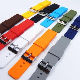 Dây Đeo Đồng Hồ Apple Iwatch Samsung Bằng Cao Su Dày 16 / 18 / 20 / 22 / 24mm Chống Thấm Nước