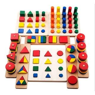 Giáo Cụ Montessori 8 Món Hàng Loại 1 – Đồ Chơi Gỗ Thông Minh