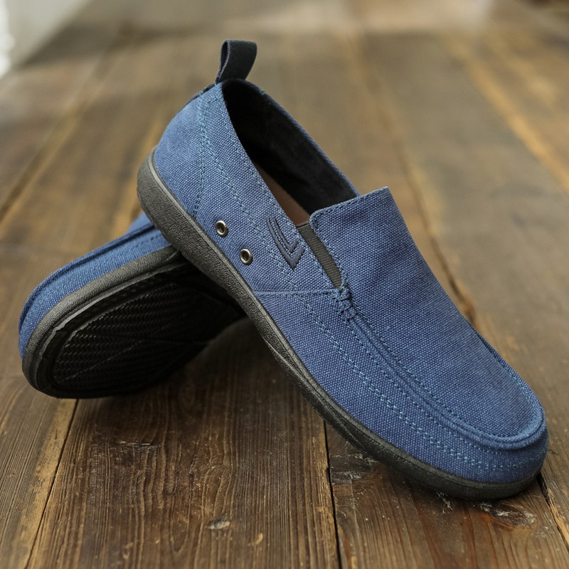 Spring new old Beijing shoes men's canvas flat casual Korean