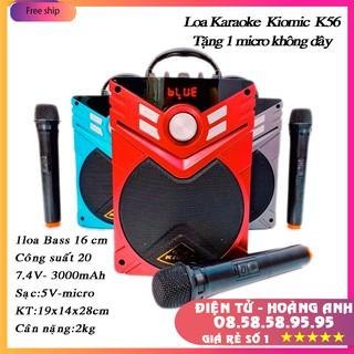 Tặng 1 mic không dây Loa kéo mini Kiomic K56 giá rẻ, loa bluetooth công suất lớn, nghe nhạc hát karaoke cực hay