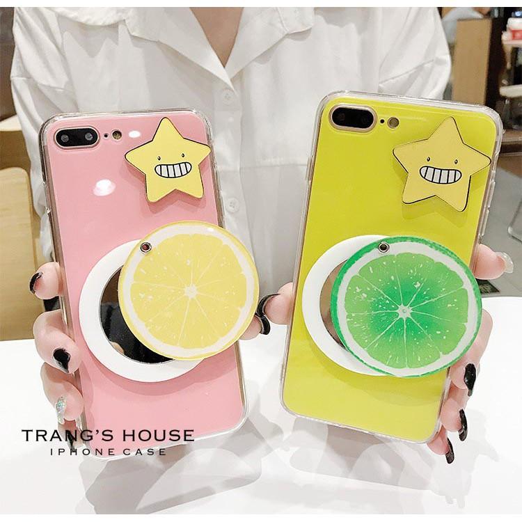 Ốp Lưng Iphone Star & Lemon Mirror Kèm Gương