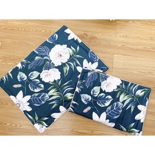 Một đôi vỏ gối chần bông vải thô lụa Hàn Quốc 45x65cm