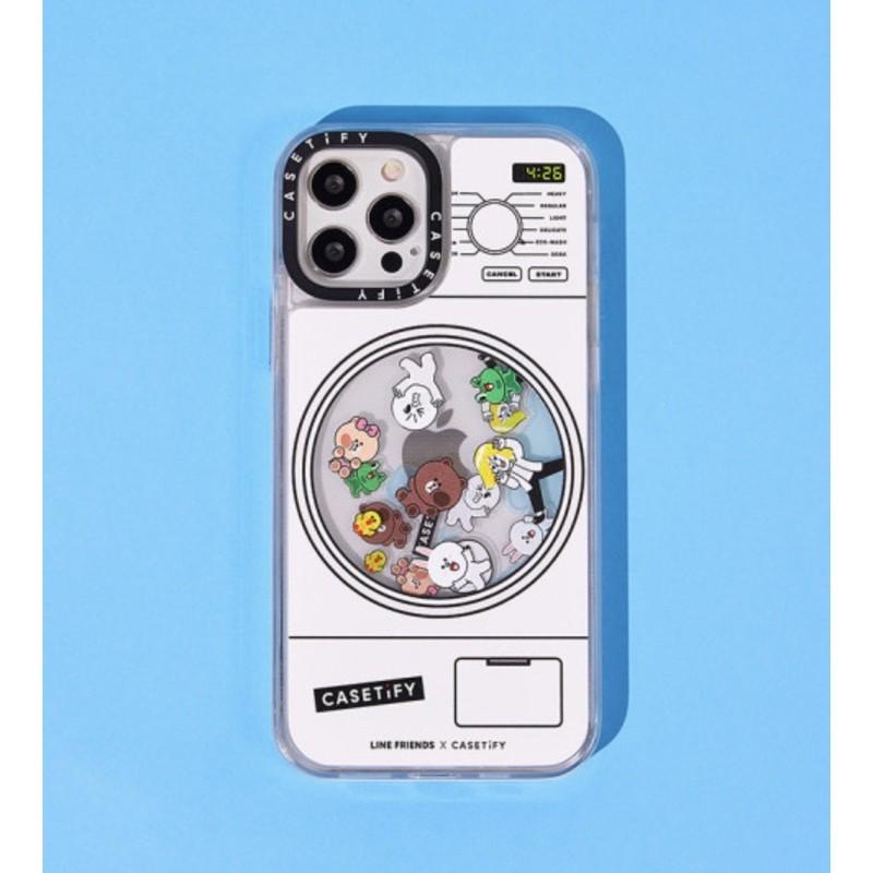 Ốp lưng LINE FRIENDS X CASETiFY nước chuyển động | Floaty laundry iPhone case (chính hãng)