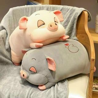 Gối văn phòng hình lợn kèm chăn 3 in 1