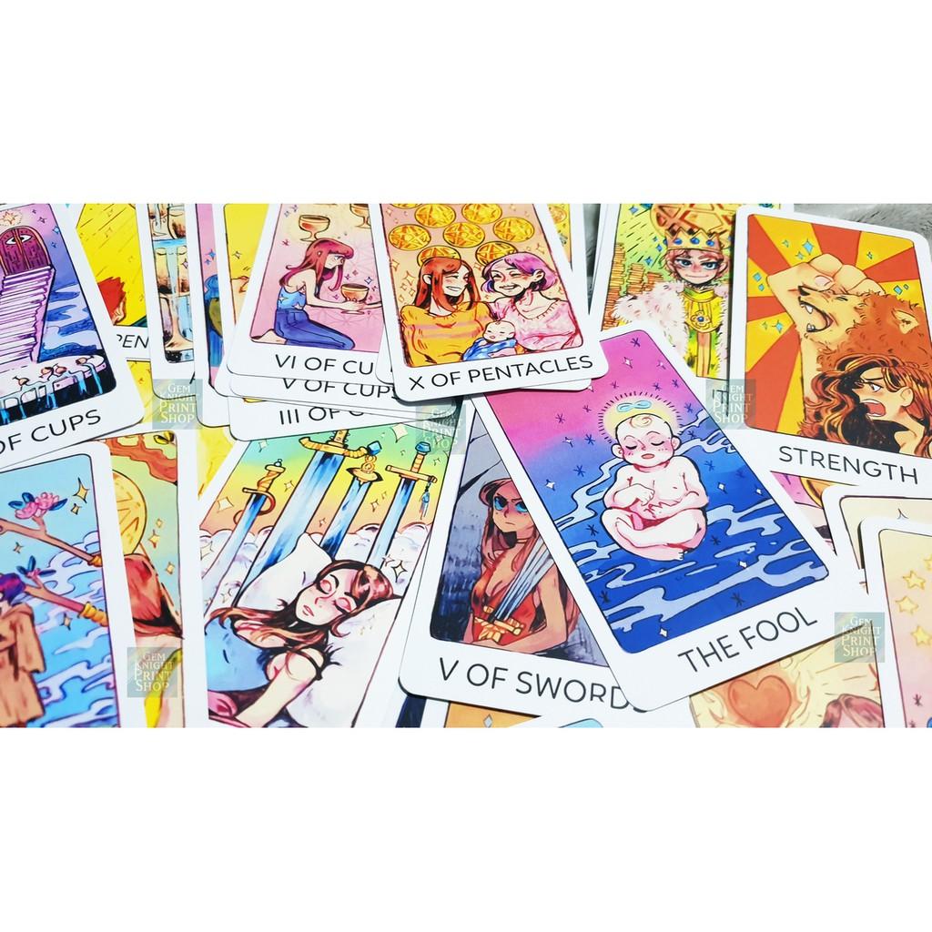 Bộ Bài Tarot – Britt's 3rd Eye Tarot/Third Eye Tarot Size Gốc + Tặng Kèm Túi Nhung