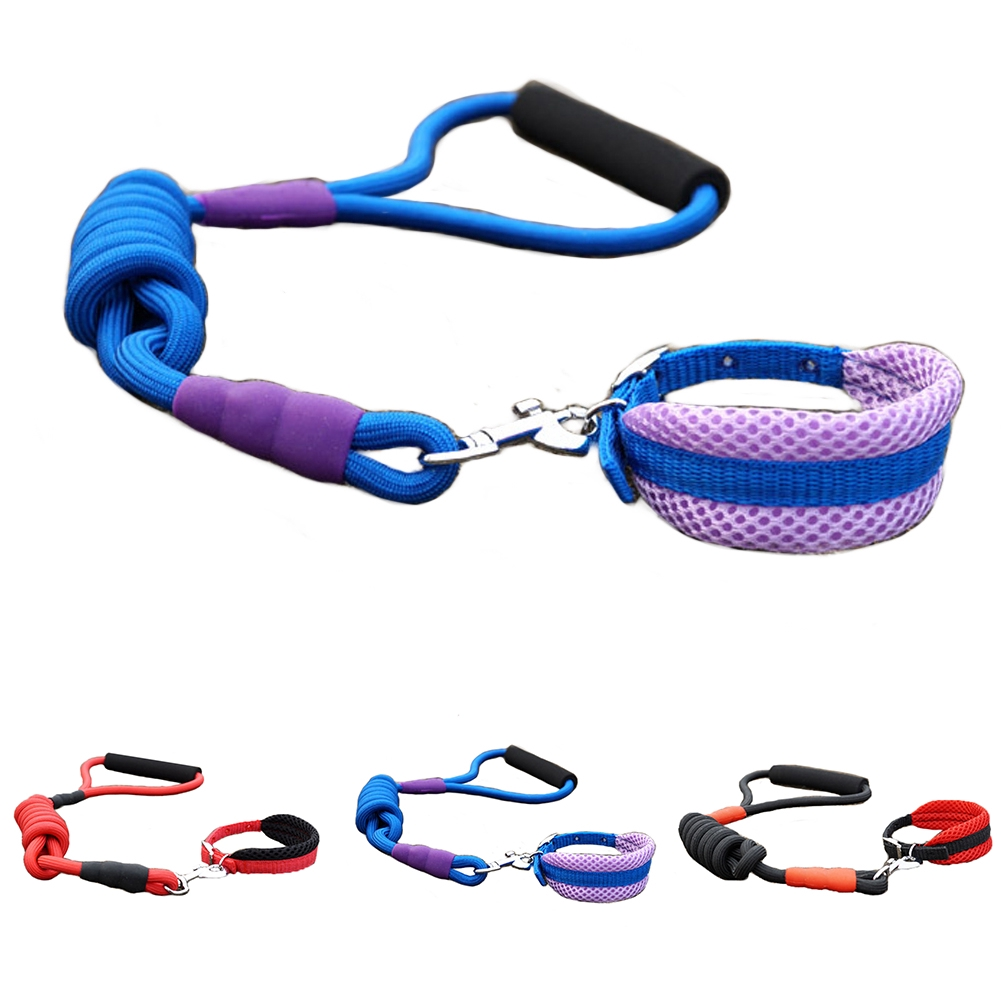 Pet Supplies Adjustable Strong Training Soft Round Rope PP Elastic Hand Guard Dog Leash