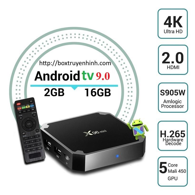 Enybox X96 Mini 2019, Android TV Pie 9, Ram 2GB, bộ nhớ trong Rom 16GB, lựa chọn Android TV Box thông minh trong tầm giá