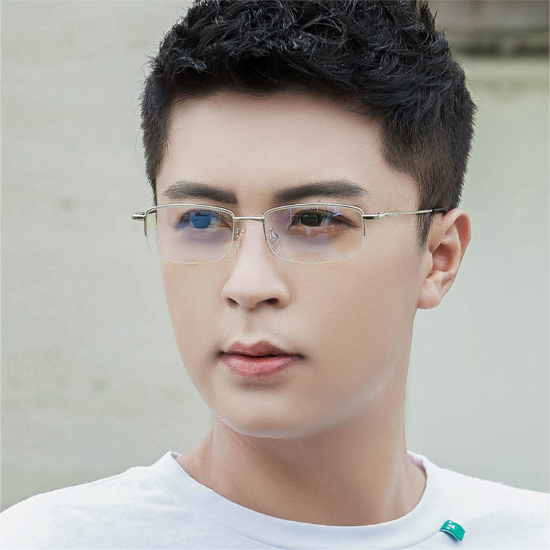 Radiation Protected Glasses Men's Anti-Blue Light No Degree Plane Eye Protection Computer Mobile Phone Eyes Female Flat Glasses Compatible Myopia...