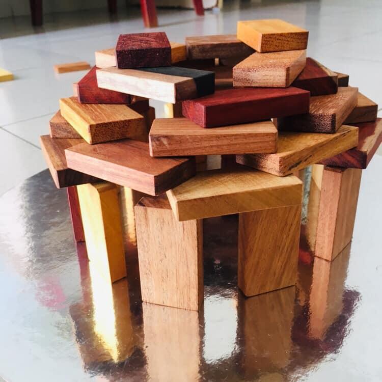 Bộ Domino bằng gỗ thịt 35 miếng – Hàng thủ công an toàn cho bé từ nghệ nhân lành nghề Hà tĩnh