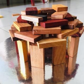 Bộ Domino đồ chơi an toàn bằng gỗ cho bé