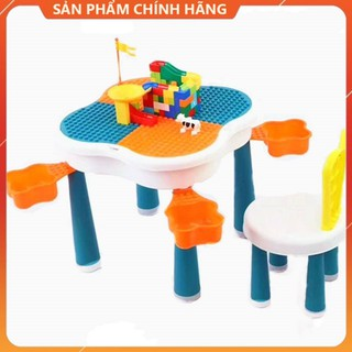 Bàn xếp hình lego đa năng, Bàn học, Bàn ăn, Bàn xếp hình, Có ngăn cất đồ tiện dụng cho bé