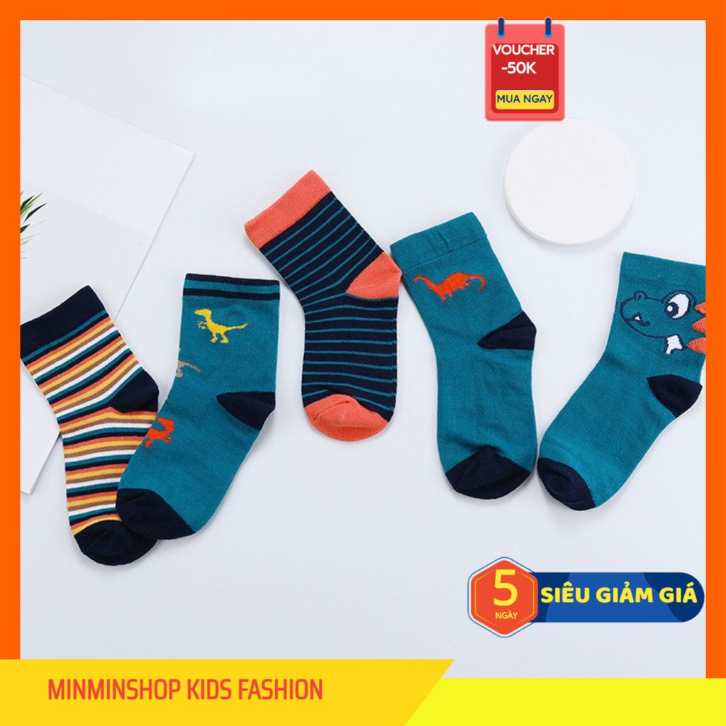 Giá bán Set 5 đôi tất cổ cao thu đông mềm mại và ấm áp cho bé MK068