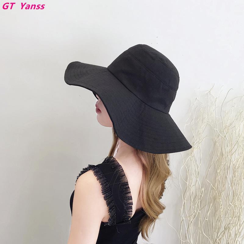 66275e8f02c6c Chic fisherman hat female summer Korean version of the big basin hat ins  sun hat cover