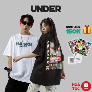 Áo Thun Tay Lỡ UNDER Hà Nội Áo Phông Cotton Nam Nữ Unisex – In Hình Local Brand Streetwear Oversize Form Rộng