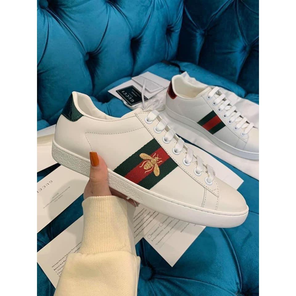 Giày gucci Paris ong 2019 trắng