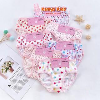 Quần chíp cotton trẻ em KAMYS KIDS xinh xắn dành cho bé gái từ 2-12 tuổi thumbnail