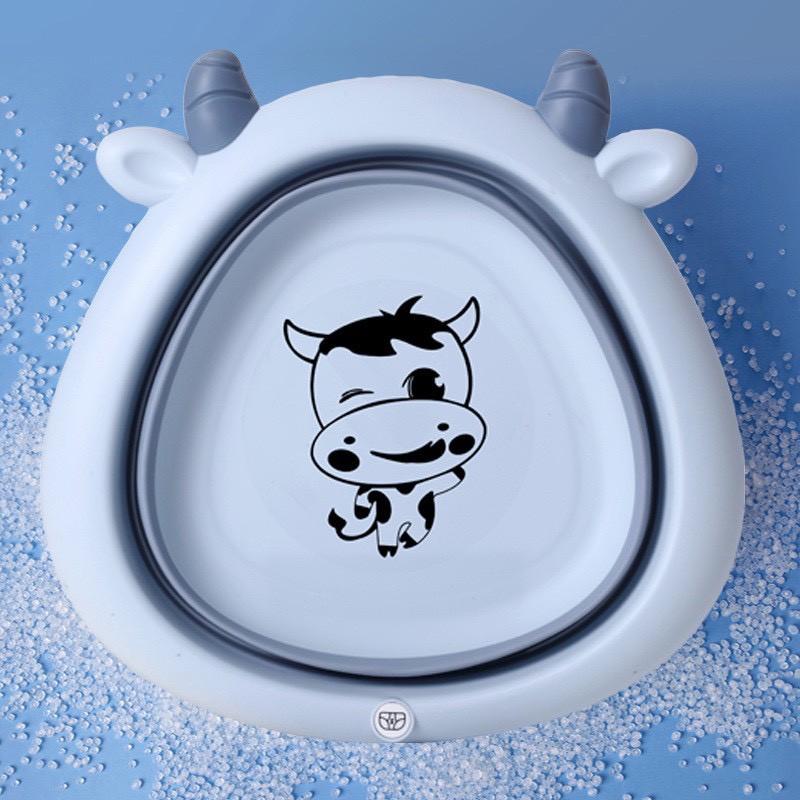 Chậu rửa mặt gấp gọn silicon hình Bò Sữa ngộ nghĩnh - F8
