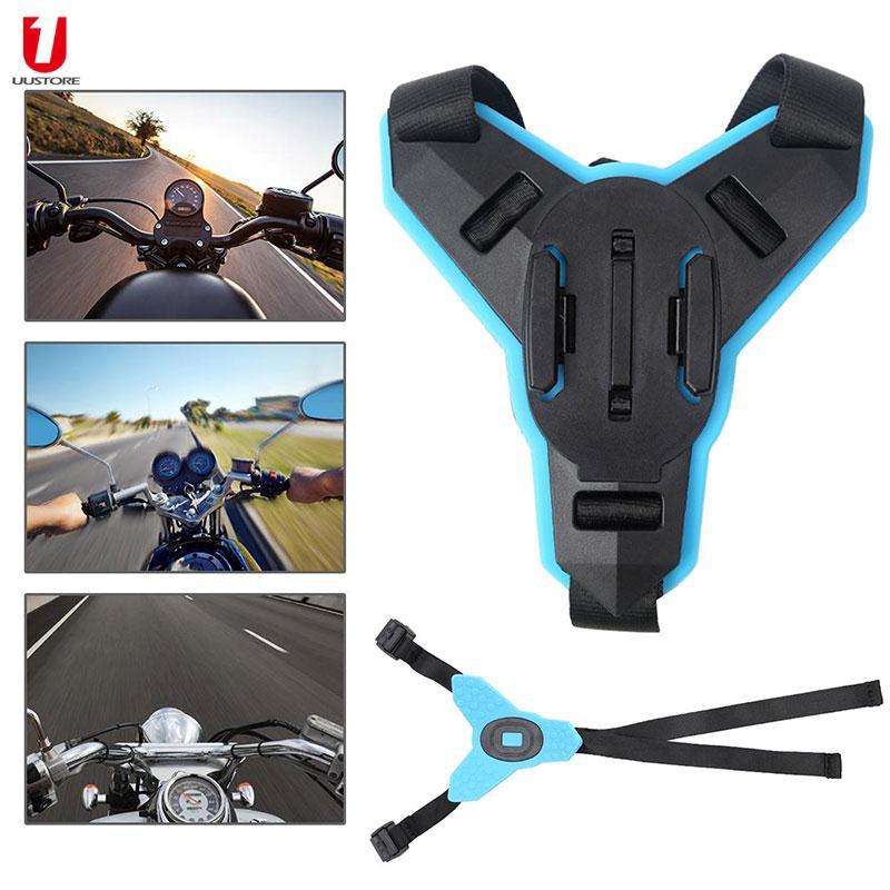 UU GoPro Hero 6/5/4/3 Helmet Chin Mount Chin Mount Creative Motorcycle Helmet Strap Mount Front Sport Accessories