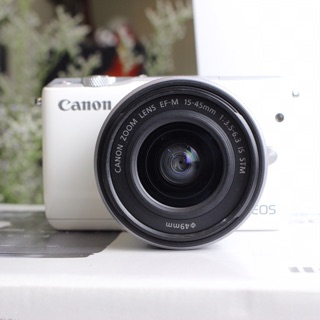 Máy ảnh Canon M10 kit 15-45mm (màu trắng/ đen – 95%)