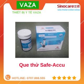 Que thử đường huyết Safe-Accu Sinocare 50 que + 50 kim