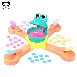 Children Multiplayer Interactive Game Feeding Frog Eating Beans Table Game Puzzle Brain Training