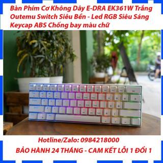 Bàn Phím Cơ Bluetooth E-DRA EK361W - Màu Trắng - Đèn led RGB siêu sáng - Bàn phím cơ 61 phím - Bảo hành 24 tháng thumbnail
