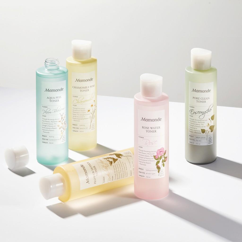 Nước Hoa Hồng Mamonde Aqua Peel - Pore Clean - Chamomile Pure - Flower  Honey - Rose Water Toner | Shopee Việt Nam