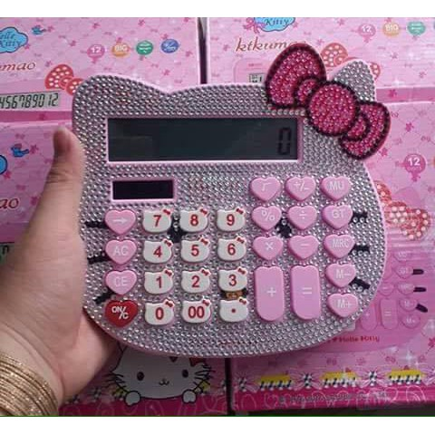 Máy tính cầm tay Hello Kitty đính đá siêu đẹp - 3176100 , 806467091 , 322_806467091 , 140000 , May-tinh-cam-tay-Hello-Kitty-dinh-da-sieu-dep-322_806467091 , shopee.vn , Máy tính cầm tay Hello Kitty đính đá siêu đẹp