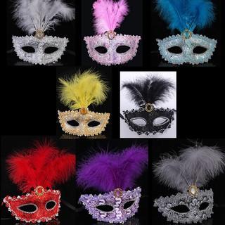 GR-mặt nạ hóa trang- mặt nạ lông vũ-SGR