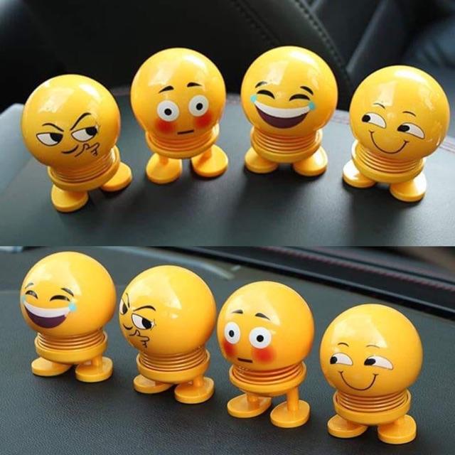 Đồ chơi xe emoji lò xò vui nhộn