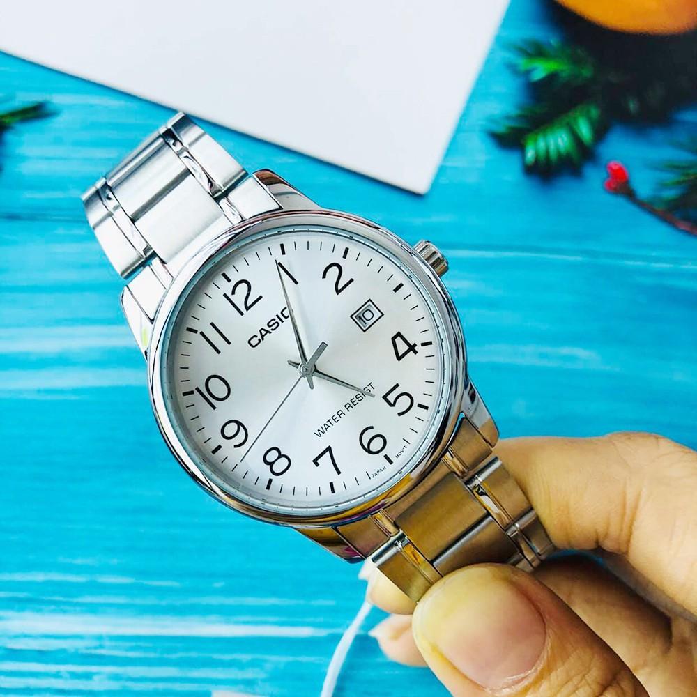 Đồng hồ nam dây thép không gỉ Casio Standard chính hãng Anh Khuê MTP-V002D-7BUDF