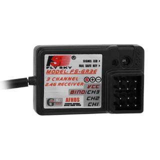 1buycart New 1Pcs Black FS-GR3C 3 Channels 2.4G GT3B GT2 Controller Receiver FS-GR3E for Toy Rc Car Boat RC Parts