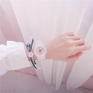 Đồng hồ thời trang nữ Mstianq ML01 led phát sáng đổi màu tuyệt đẹp, phong cách Hàn Quốc, dây silicon êm tay