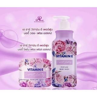 Combo Sữa tắm + Dưỡng thể Aron Vitamin E phiên bản nước hoa siêu thơm Thái lan thumbnail