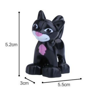 GOROCK – Con mèo đen tương thích lego duplo