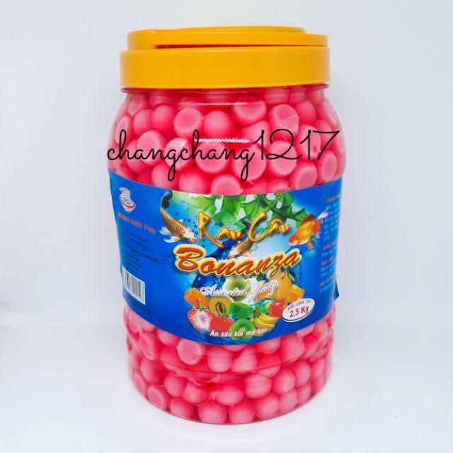 Thạch Dừa Rau Câu Bi Hoàng Quốc Đủ Màu Hủ 2kg5