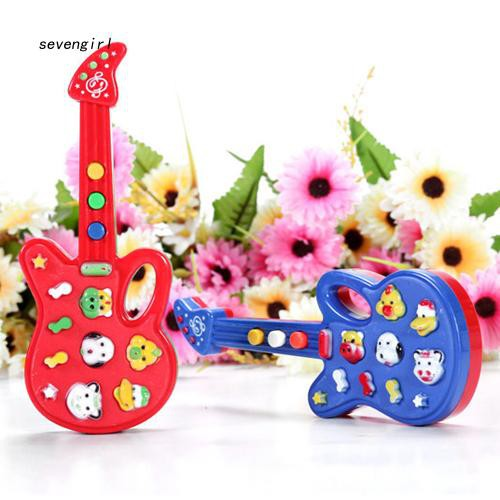 〖MO〗Electronic Guitar Toy Nursery Rhyme Music Children Baby Kids Educational Gift