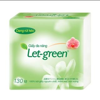 Khăn Giấy đa năng Let-green 10*21cm/tờ, 130tờ/bao