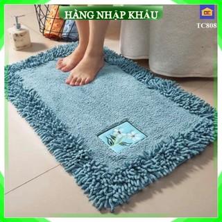 [Loại 1 – Cao Cấp] Thảm chùi chân lông cừu mềm mịn sang trọng, chống trơn trượt trải phòng khách, phòng tắm, phòng bếp