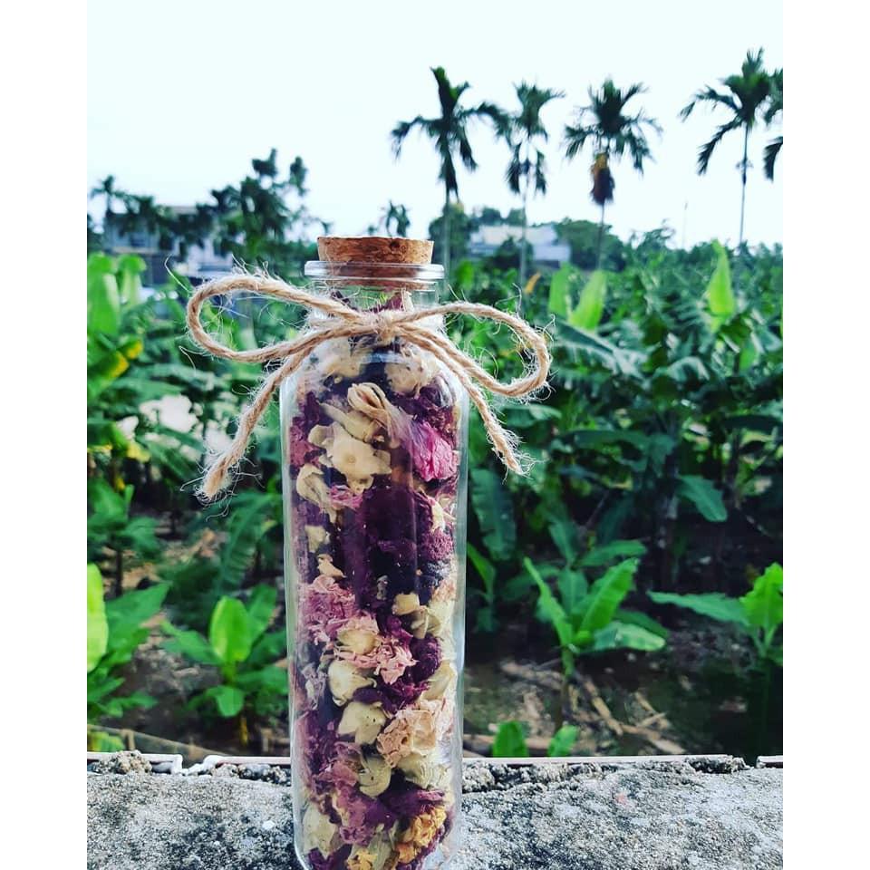 Trà hoa phù dung sấy khô 100g loại 1 Trà hoa phù dung sấy khô 100g loại 1