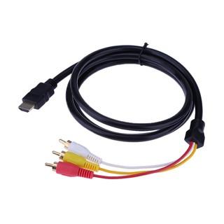 Dây cáp chuyển đổi âm thanh AUX 1.5m HD HDMI sang 3RCA AV