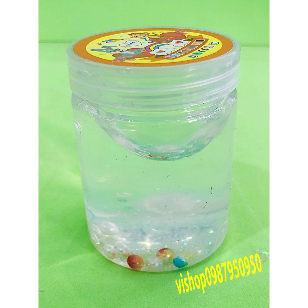 đồ chơi slime -chất nhờn lọ có viên bi ngọc trai - slime mềm mã AWP39 G( full box )