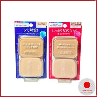 Lõi phấn phủ shiseido Aqualabel xanh đỏ Nhật Bản thumbnail