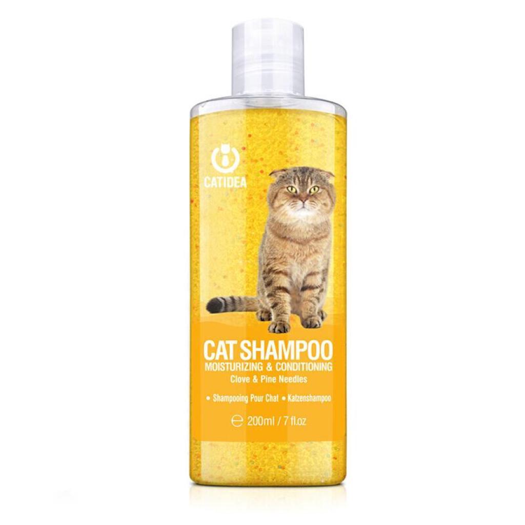 Catidea Cat Shampoo แชมพูแมว กลิ่นกานพลูและไม้สน บำรุงขน กลิ่นหอม สำหรับแมวทุกสายพันธุ์ (200 มล.วด)ัตว์เลี้ยง Catidea Ca