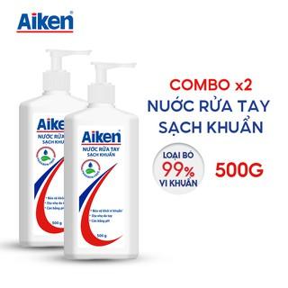 Aiken Combo 2 Nước rửa tay Sạch khuẩn 500g chai thumbnail