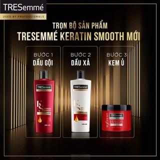 Hình ảnh Combo gội 640g + xả 620g TRESemmé Keratin Smooth Tinh dầu Argan và Keratin vào nếp suôn mượt-5