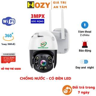 Camera wifi ngoài trời 3mpx 2304 x 1296p Carecam pro 2021 siêu nét, chống nước, xoay 360 độ, báo động thông minh